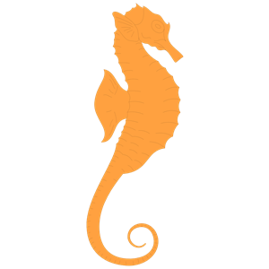 Blue seahorse clipart free clipart images.
