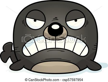 Angry Cartoon Seal.