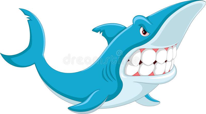 Angry Shark Stock Illustrations.