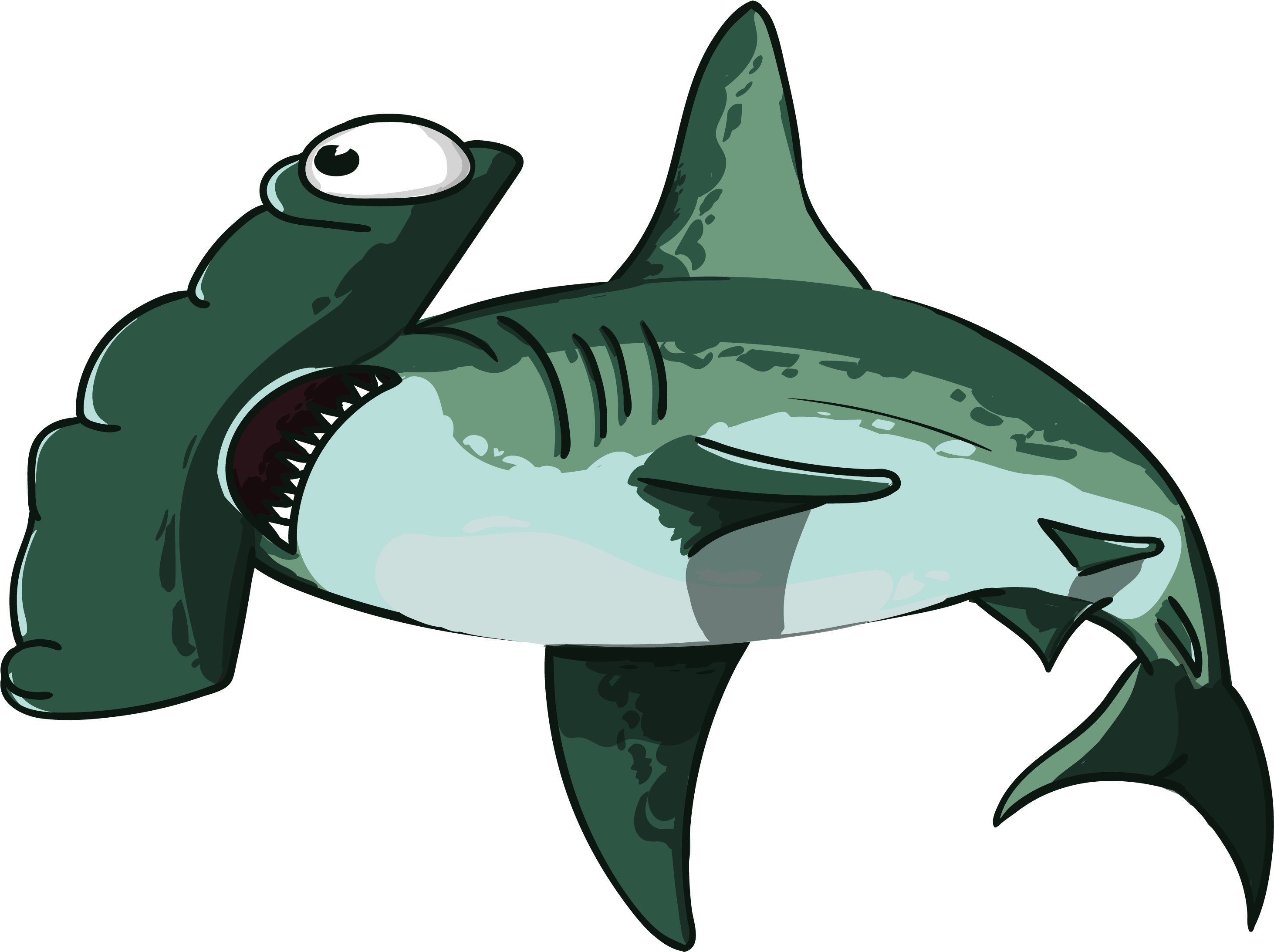 Shark Head Png Transparent Angry Shark Clipart.