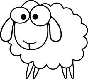 Angry Black Sheep Clipart.