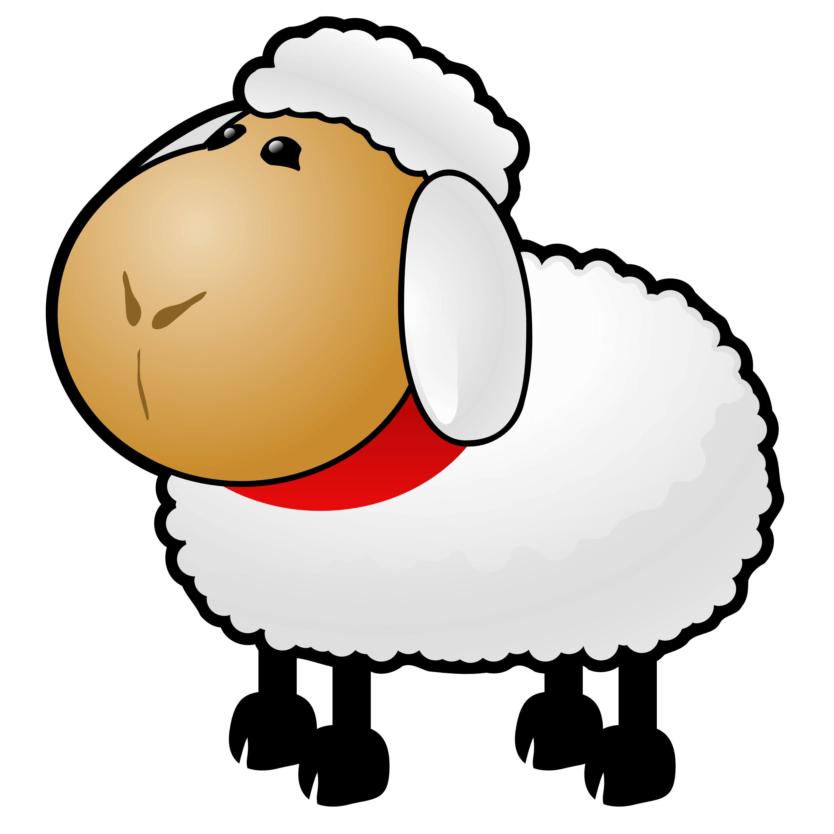 Angry black sheep clipart free clipart image.