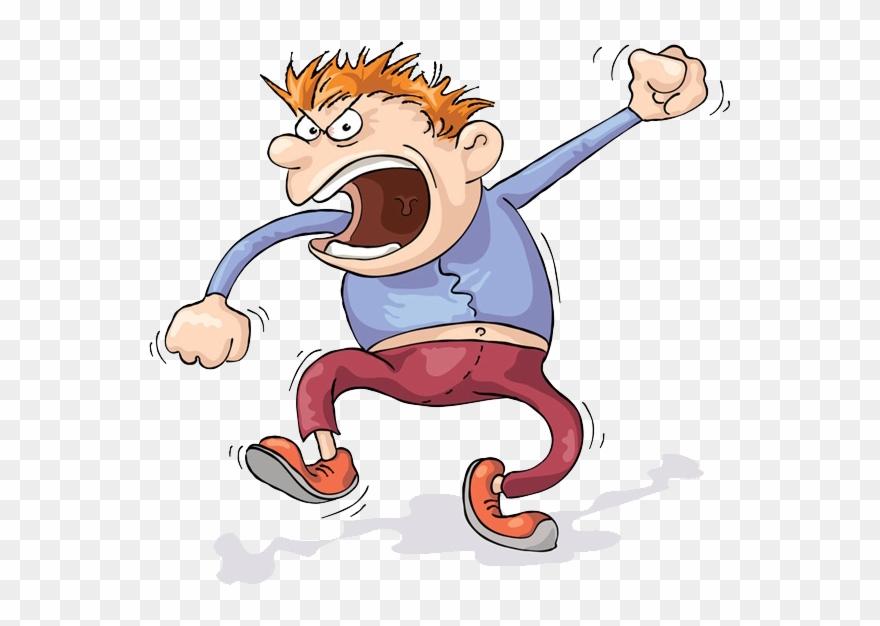 Screaming Anger Cartoon Clip Art Man Transprent.