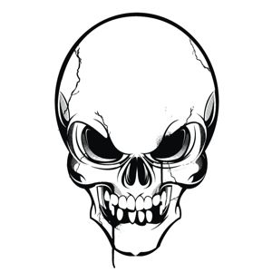 Angry clipart skull, Angry skull Transparent FREE for.