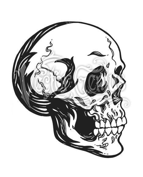 Hand Drawn Skull Skeleton ClipArt.
