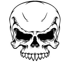 Angry Skull Silhouette.