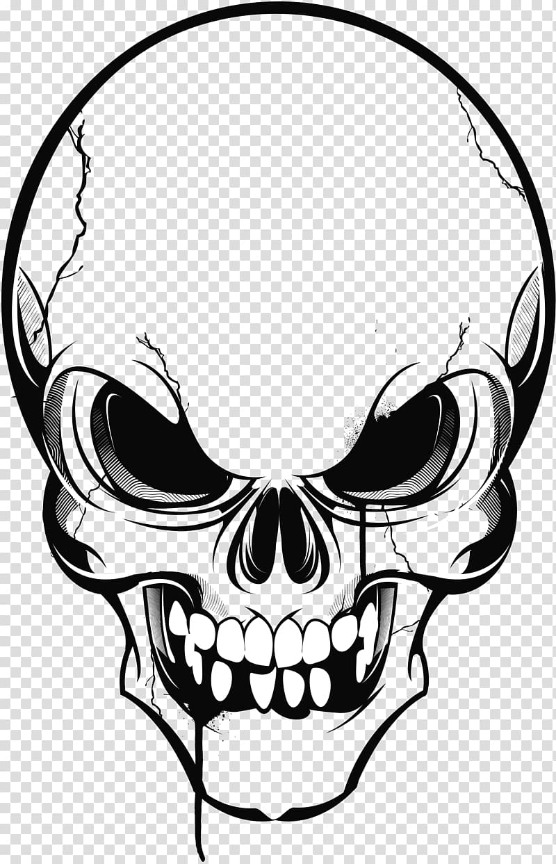 Human skull symbolism Evil, skull transparent background PNG.