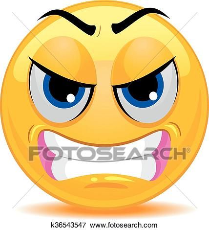 Smiley Emoticon Angry Face Clip Art.