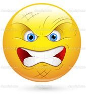 Angry Smiley Face Clip Art N2 free image.