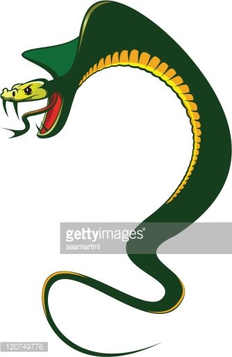 Angry snake Clipart Image.