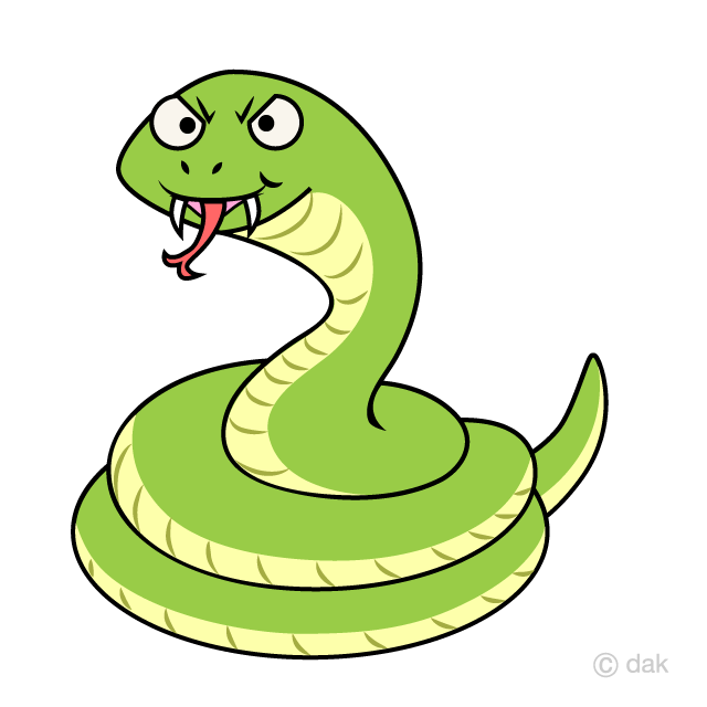 Free Angry Snake Coil Cartoon Image|Illustoon.
