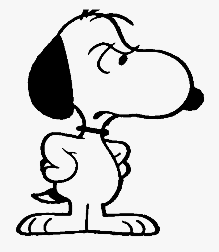 Snoopy Angry , Transparent Cartoon, Free Cliparts.