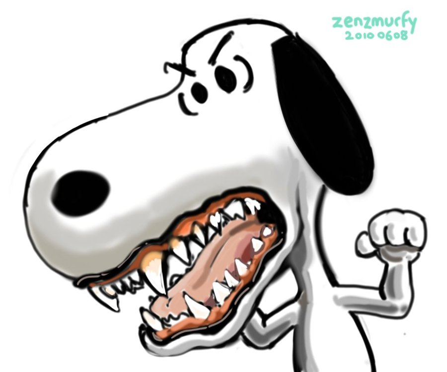Angry Snoopy by zenzmurfy on Clipart library.