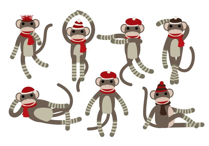 Sock Monkey Vectors.