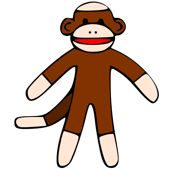 Sock Monkey Cartoon Picture.