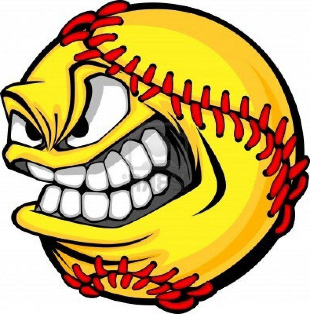Angry Softball Clipart.