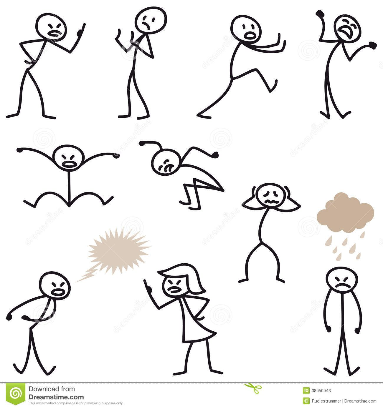 Stick Man Stick Figures Angry Bad.