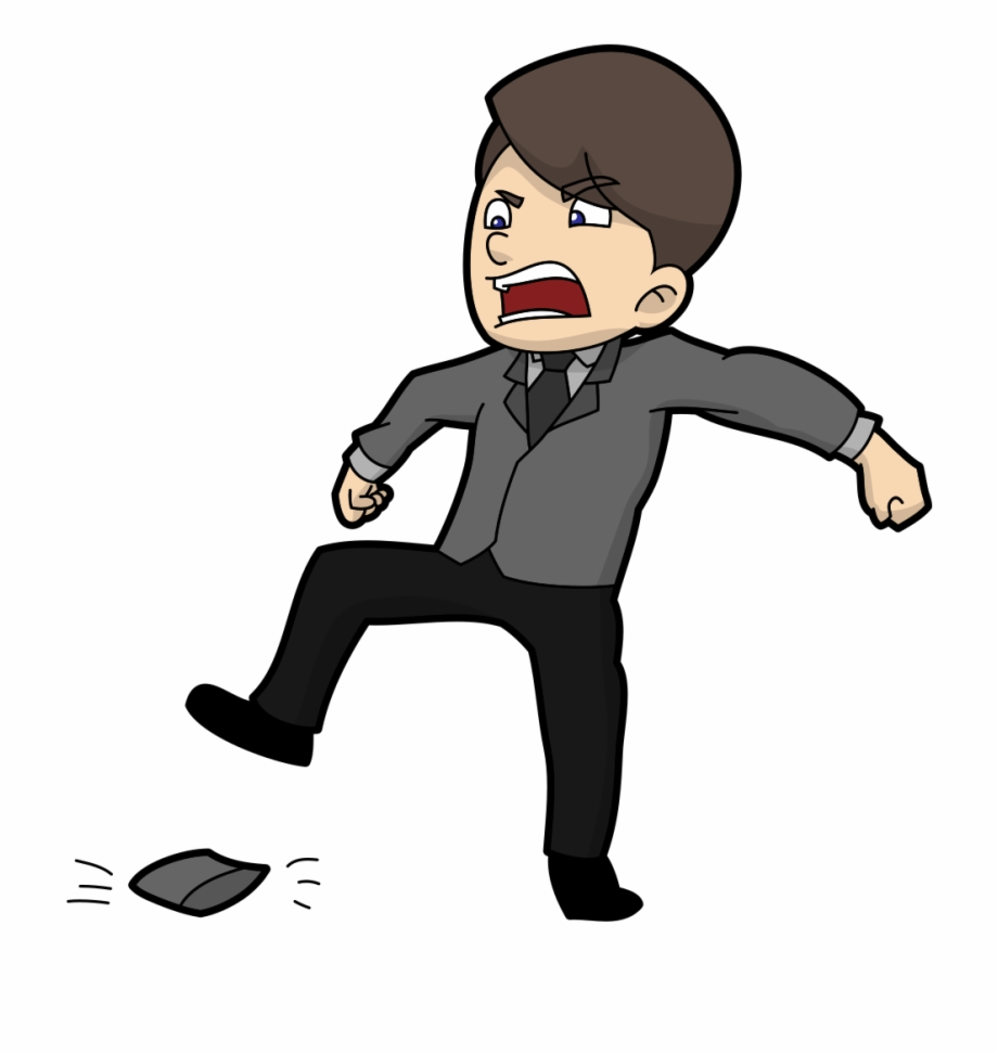 Angry Cartoon Guy Stomping His Wallet Angry Cartoon.