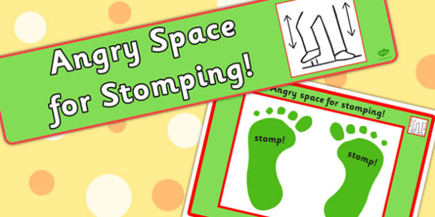 Angry Space For Stomping Sign and Mat.