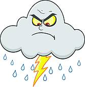 Angry Cloud Clipart.