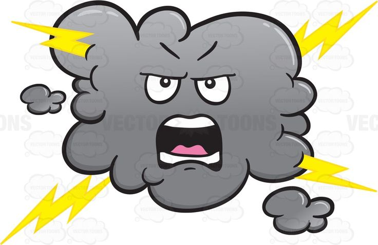 Yelling And Angry Stormy Cloud Emoji #anger #angry.