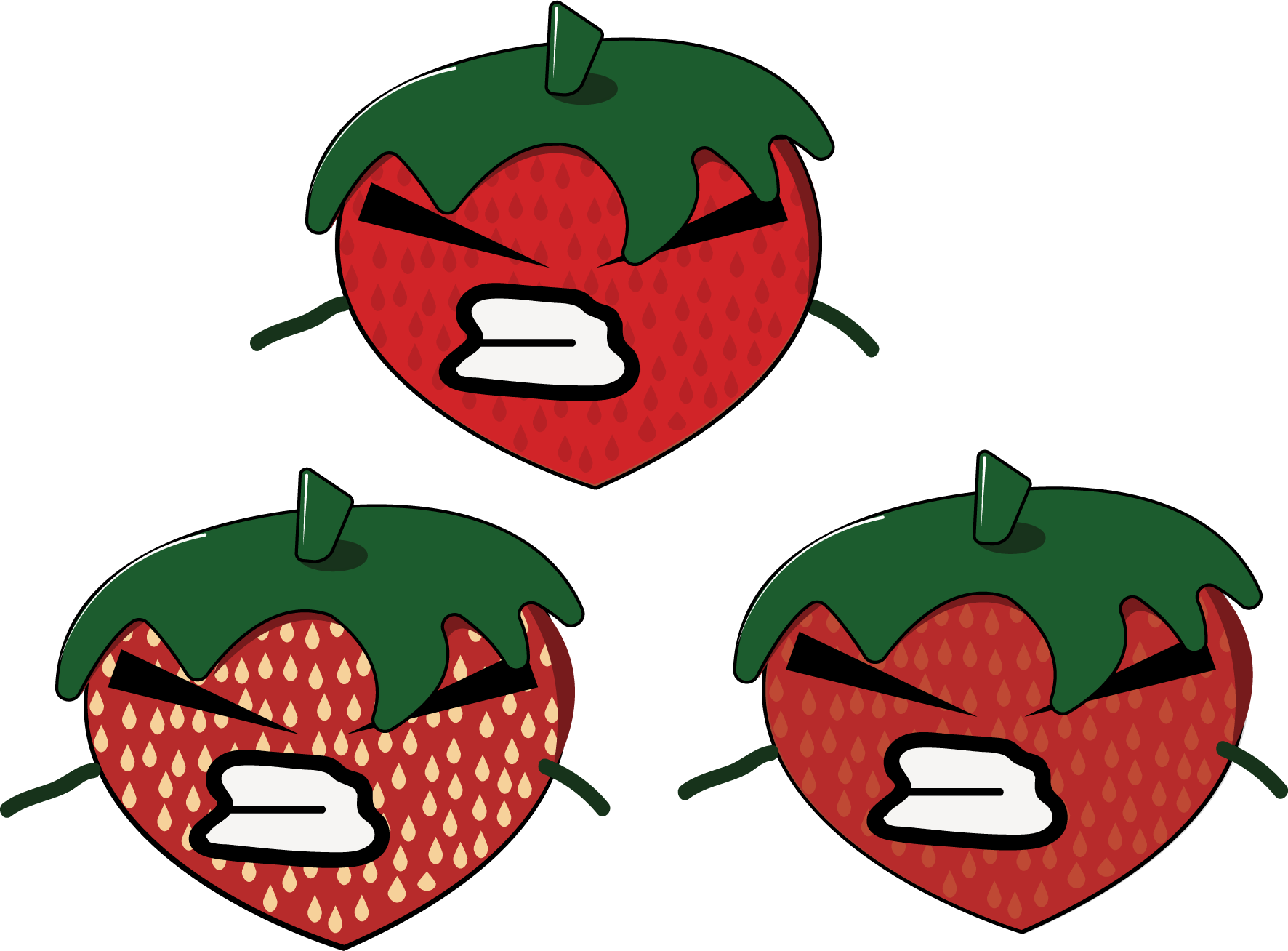 Strawberries clipart angry, Strawberries angry Transparent.