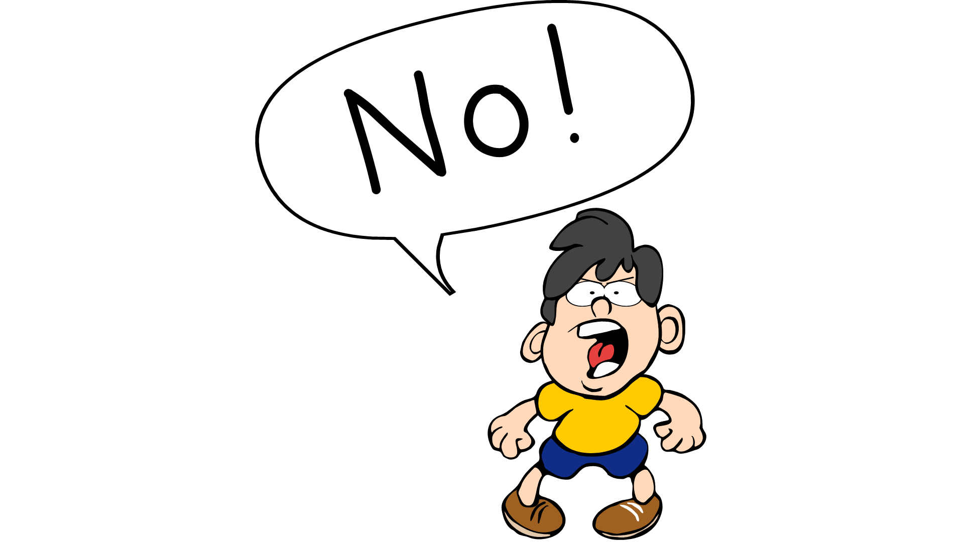 Angry Students Clipart.