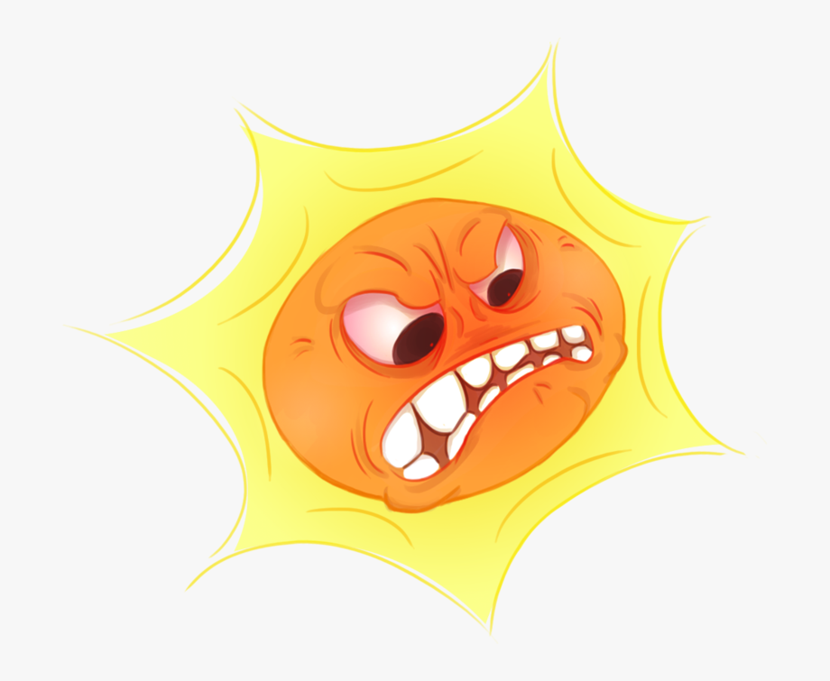 Sun Clipart Angry.
