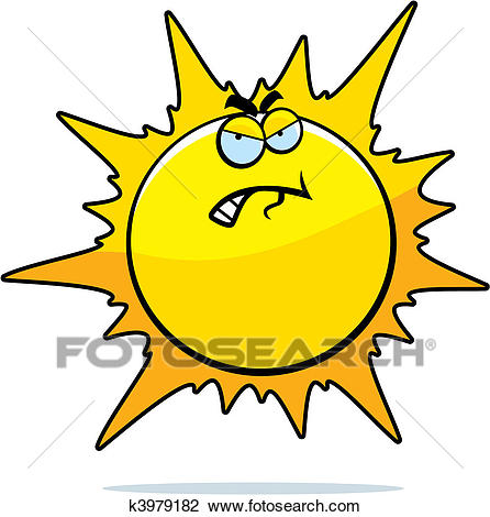 Angry Sun Clipart.