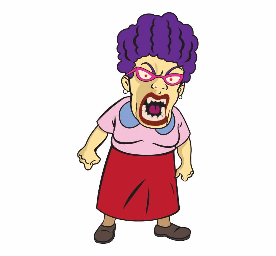 Angry Student Clipart.