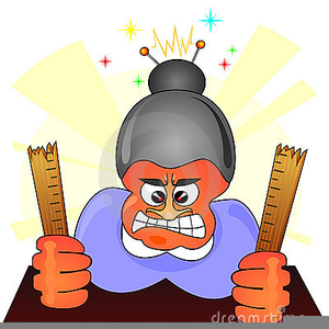 Free Clipart Angry Teacher.