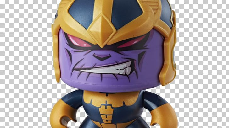 Mighty Muggs Thanos Captain America Iron Man Thor PNG.
