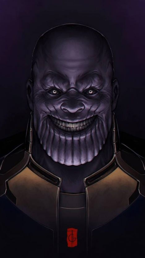 Scary Thanos iPhone Wallpaper Free Clipart, Vectors, PSD.
