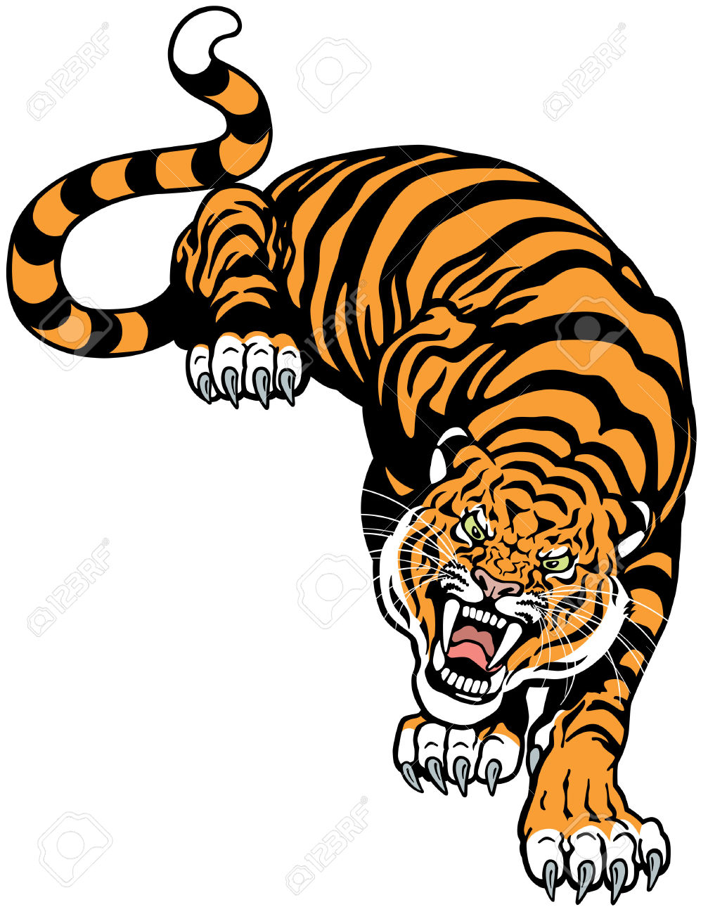 1,130 Roaring Tiger Stock Vector Illustration And Royalty Free.