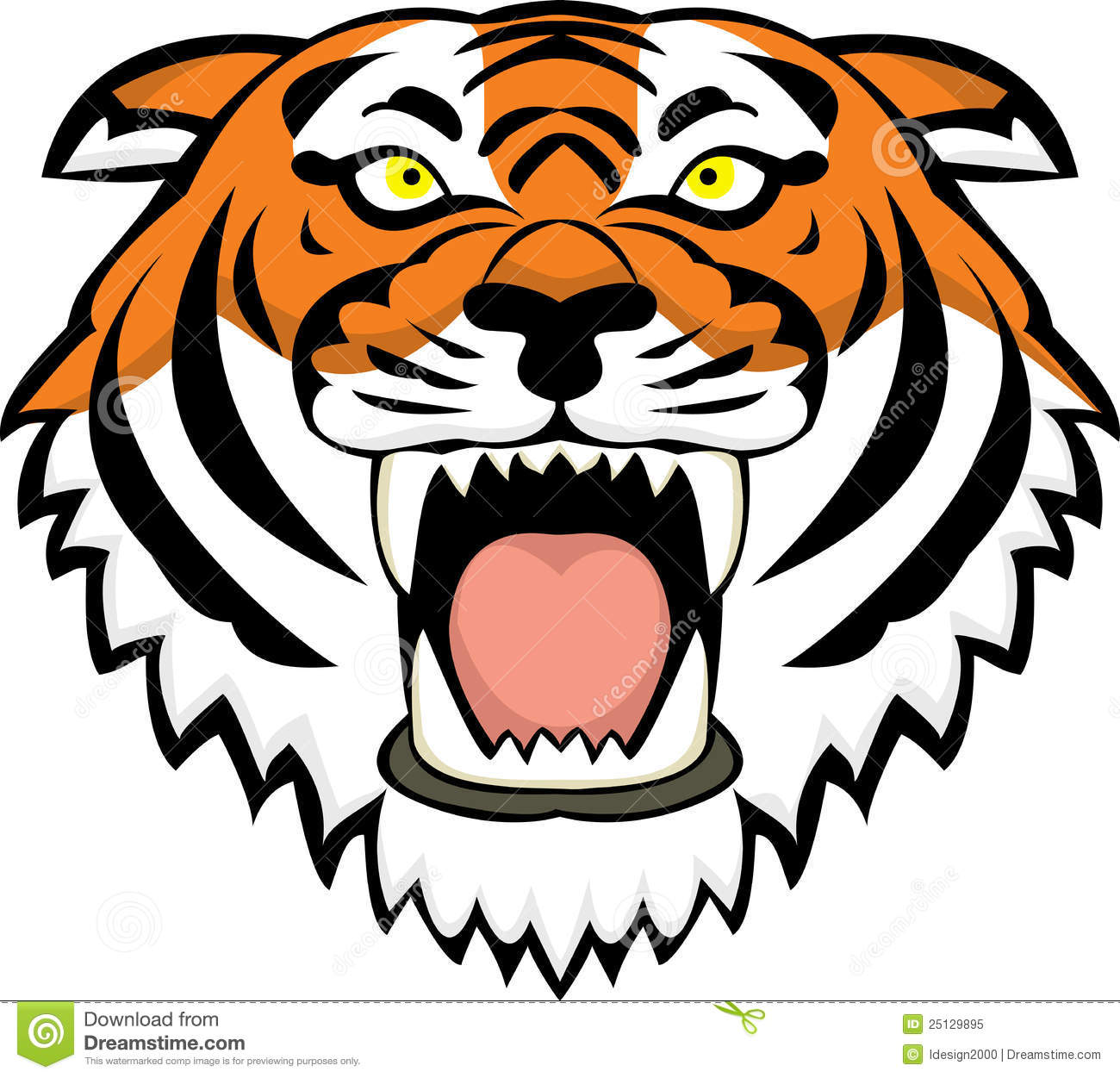 Tiger Face Clipart.