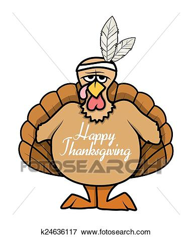 Thanksgiving Day Angry Turkey Bird Clip Art.