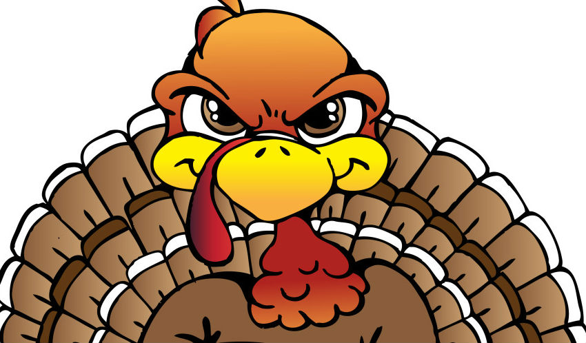 Angry Turkey Clipart.