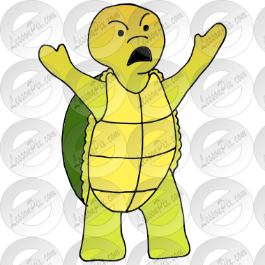 Angry Turtle Picture for Classroom / Therapy Use.