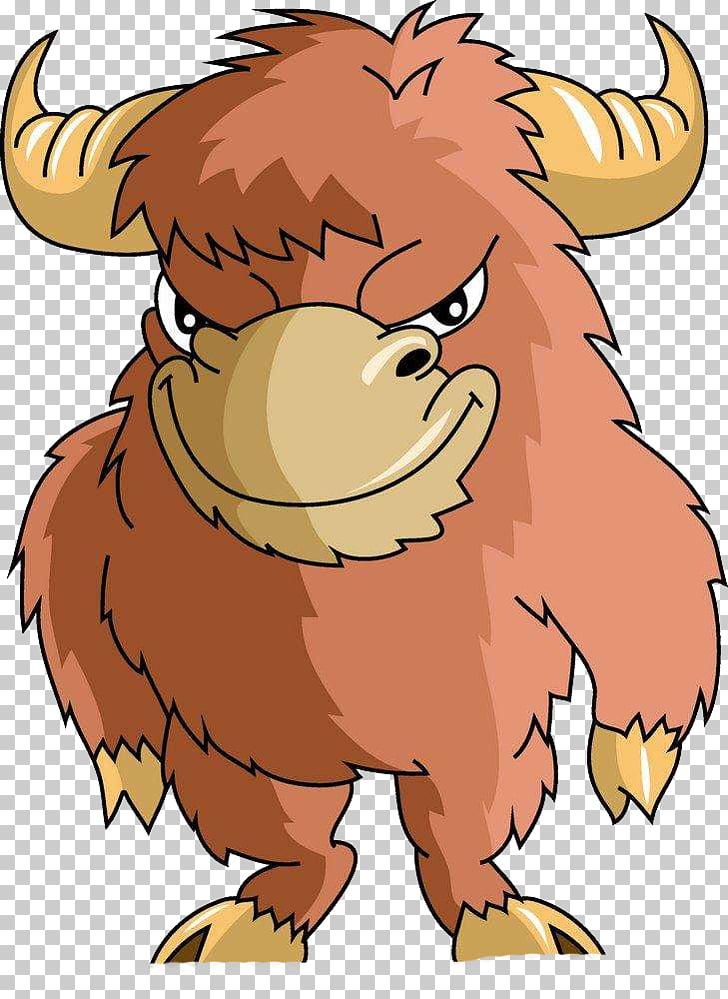 Bull Demon King Bovini Water buffalo, Angry red bull PNG.