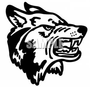 526 Wolf Head free clipart.