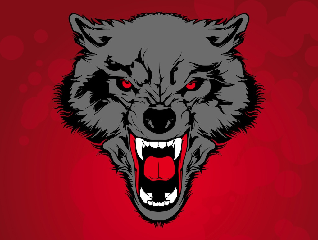 Angry Wolf Clipart.