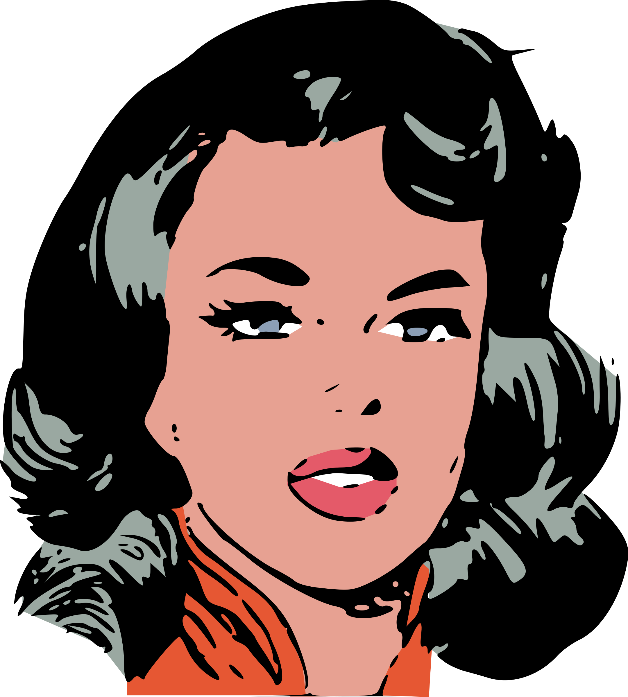 Eyebrow clipart angry woman face, Eyebrow angry woman face.