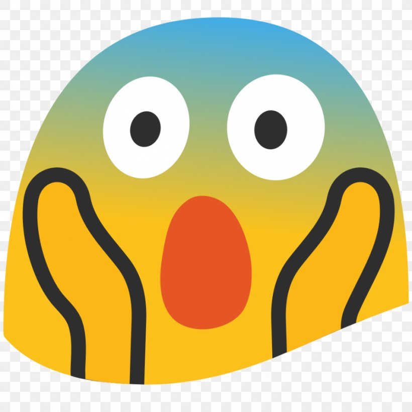 Emoji Screaming Smiley Face Fear, PNG, 950x950px, Emoji.