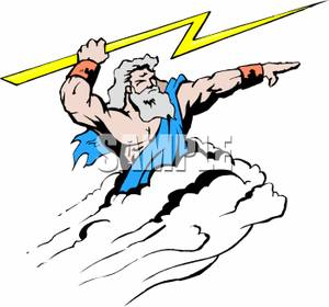 The Greek God of Thunder, Zeus.