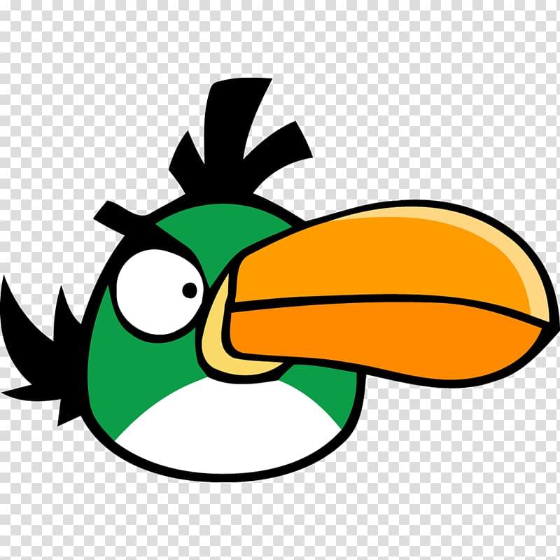 Leaf area beak green, Angry bird green, green parrot Angrybird.