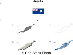 Anguilla outline Vector Clipart EPS Images. 18 Anguilla outline.