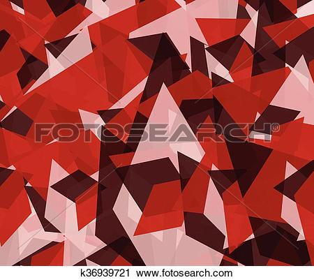 Clipart of Abstract edgy, angular background, texture k36939721.