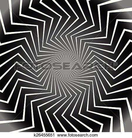 Clipart of Grayscale, Black and White Radial Shapes Background.