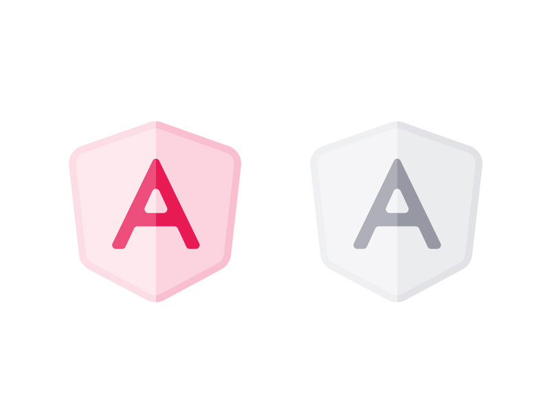 Semi Transparent AngularJS Logo by Eugenia Pastore on Dribbble.