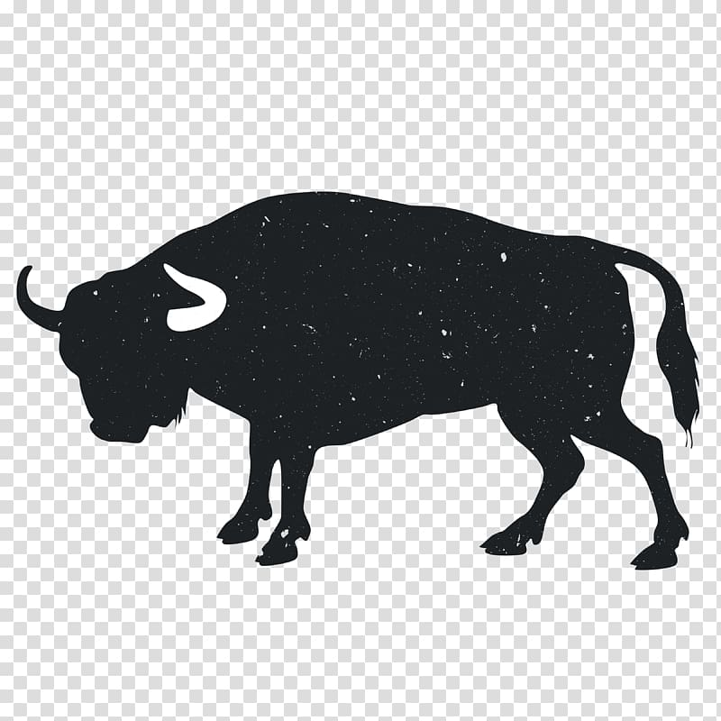 Angus cattle Hereford cattle Bull Drawing , Animal Silhouettes.
